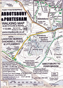 Abbotsbury and Portesham Walking Map