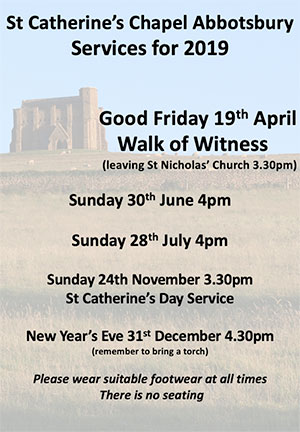 St Catherines Chapel Services 2019
